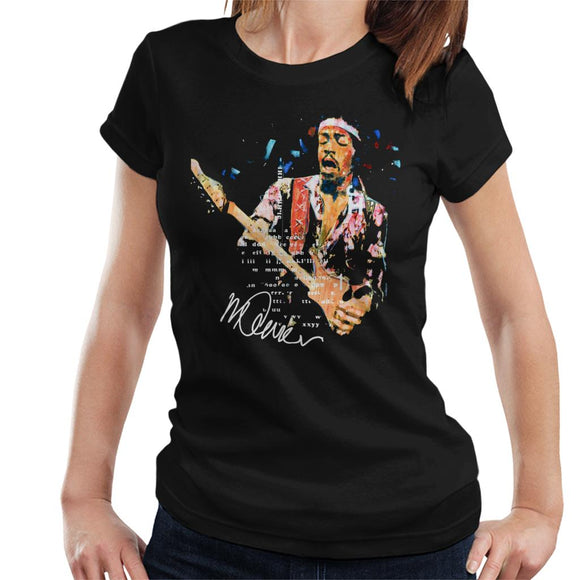 Sidney Maurer Original Portrait Of Guitarist Jimi Hendrix Women's T-Shirt