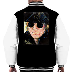 Sidney Maurer Original Portrait Of John Lennon Hat And Sunglasses Men's Varsity Jacket