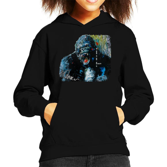 Sidney Maurer Original Portrait Of King Kong Kid's Hooded Sweatshirt