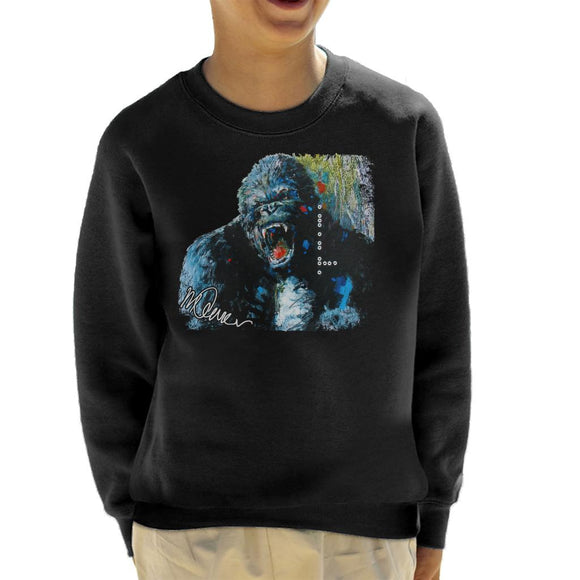 Sidney Maurer Original Portrait Of King Kong Kid's Sweatshirt
