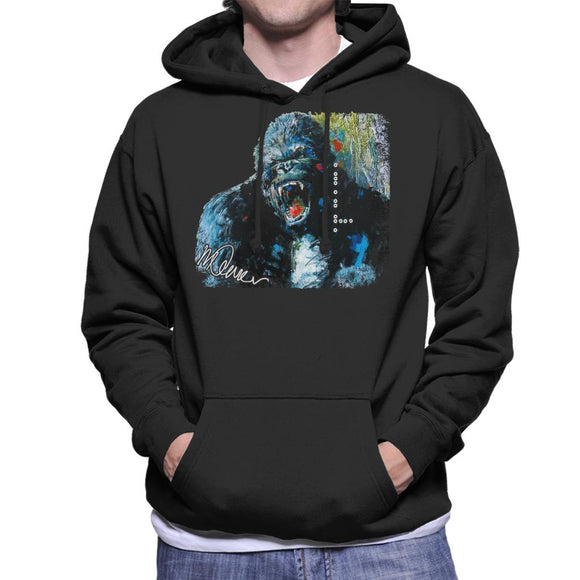 Sidney Maurer Original Portrait Of King Kong Men's Hooded Sweatshirt