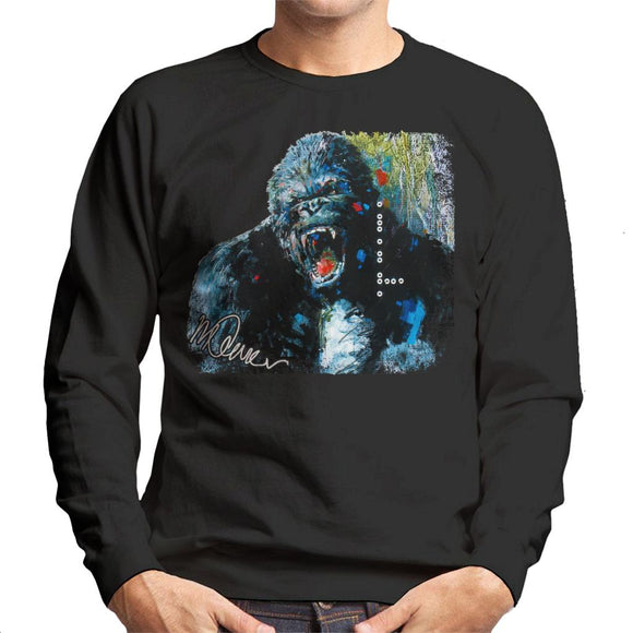 Sidney Maurer Original Portrait Of King Kong Men's Sweatshirt