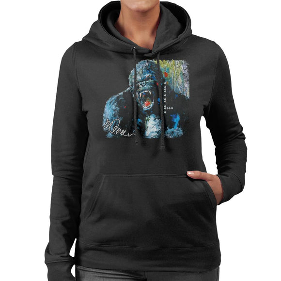 Sidney Maurer Original Portrait Of King Kong Women's Hooded Sweatshirt