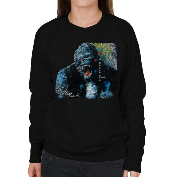 Sidney Maurer Original Portrait Of King Kong Women's Sweatshirt