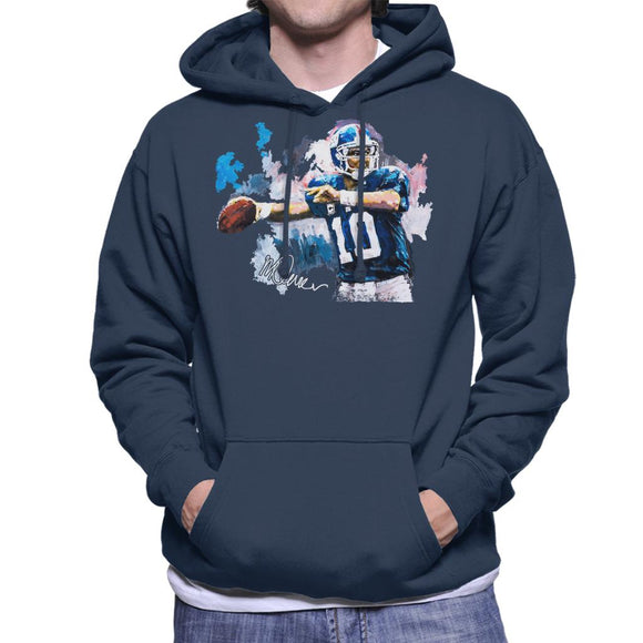 Sidney Maurer Original Portrait Of Eli Manning Giants Men's Hooded Sweatshirt