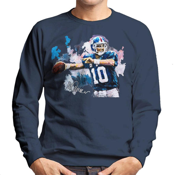 Sidney Maurer Original Portrait Of Eli Manning Giants Men's Sweatshirt