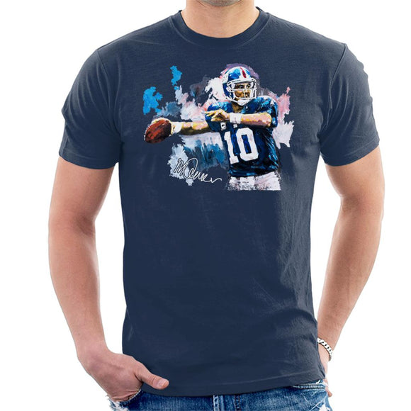 Sidney Maurer Original Portrait Of Eli Manning Giants Men's T-Shirt