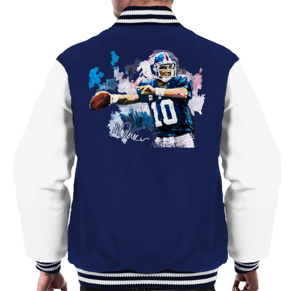 Sidney Maurer Original Portrait Of Eli Manning Giants Men's Varsity Jacket