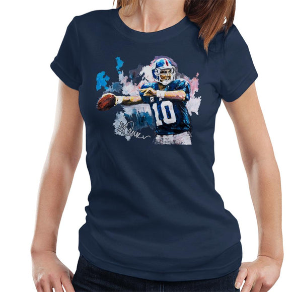 Sidney Maurer Original Portrait Of Eli Manning Giants Women's T-Shirt