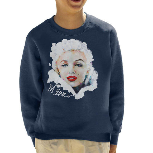 Sidney Maurer Original Portrait Of Actress Marilyn Monroe Kid's Sweatshirt