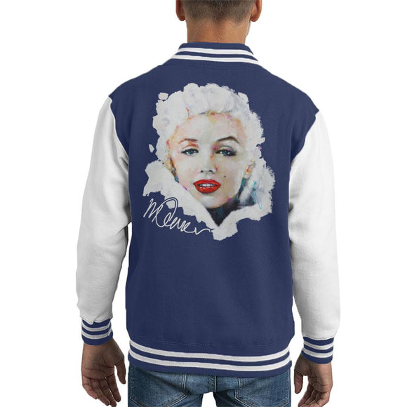 Sidney Maurer Original Portrait Of Actress Marilyn Monroe Kid's Varsity Jacket