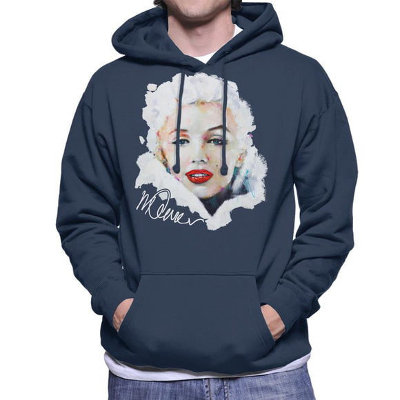 Sidney Maurer Original Portrait Of Actress Marilyn Monroe Men's Hooded Sweatshirt