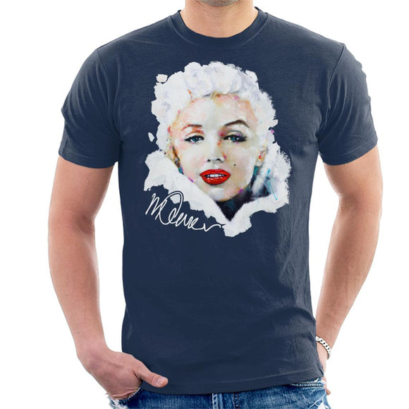 Sidney Maurer Original Portrait Of Actress Marilyn Monroe Men's T-Shirt