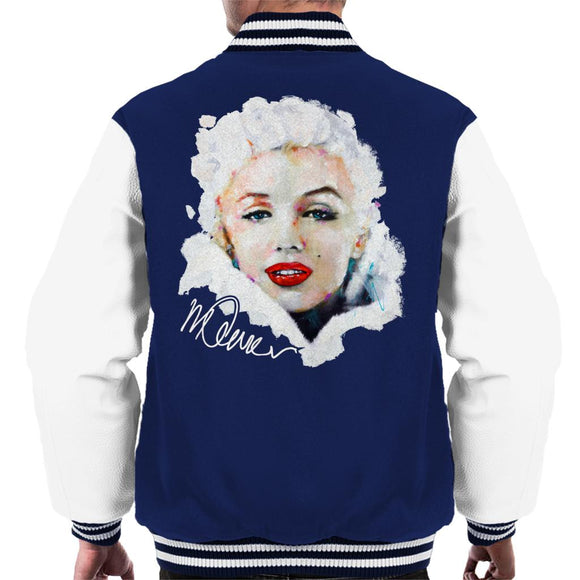 Sidney Maurer Original Portrait Of Actress Marilyn Monroe Men's Varsity Jacket