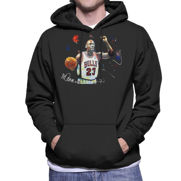 Sidney Maurer Original Portrait Of Michael Jordan Chicago Bulls Basketball Men's Hooded Sweatshirt