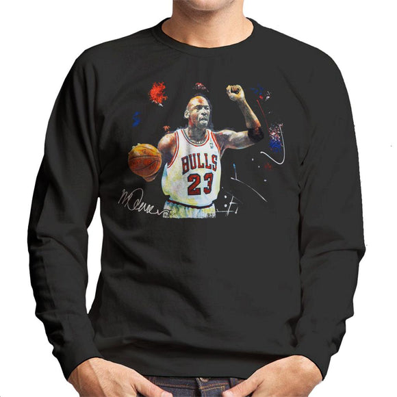 Sidney Maurer Original Portrait Of Michael Jordan Chicago Bulls Basketball Men's Sweatshirt