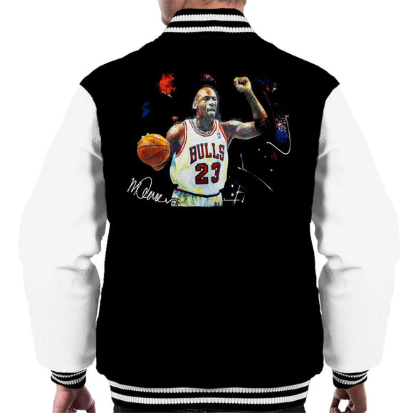 Sidney Maurer Original Portrait Of Michael Jordan Chicago Bulls Basketball Men's Varsity Jacket