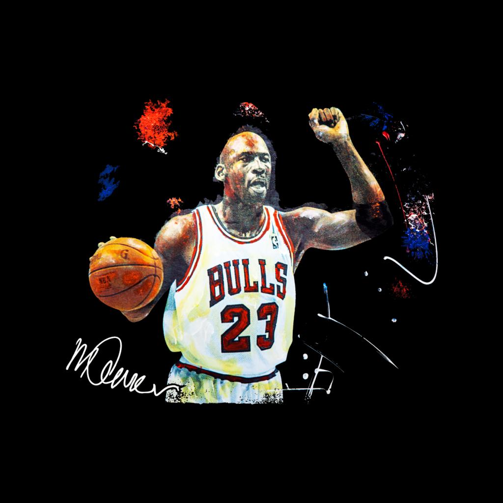 a89f574b5400 ... Sidney Maurer Original Portrait Of Michael Jordan Chicago Bulls Basketball  Men s Hooded Sweatshirt ...