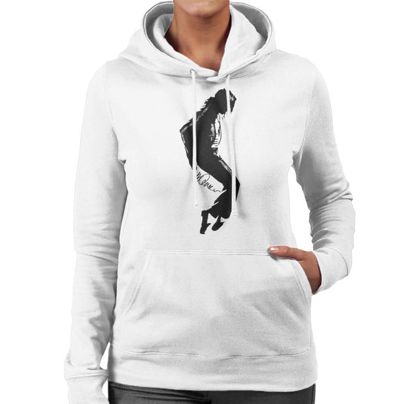 Sidney Maurer Original Portrait Of Michael Jackson Silhouette Women's Hooded Sweatshirt