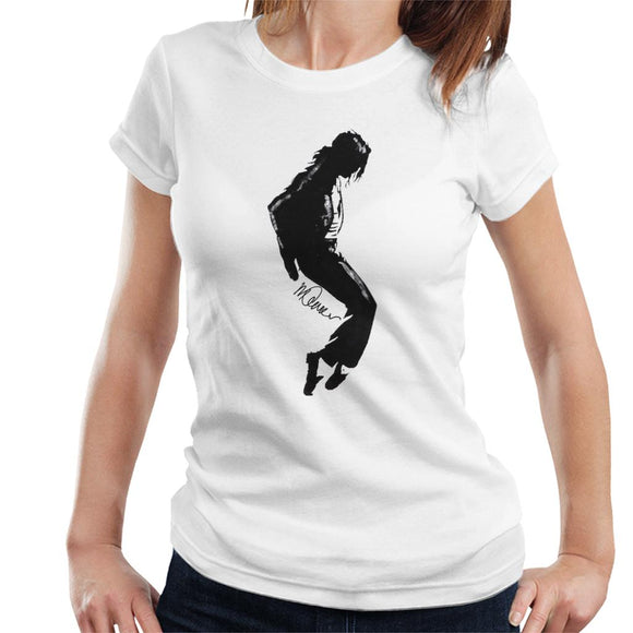Sidney Maurer Original Portrait Of Michael Jackson Silhouette Women's T-Shirt