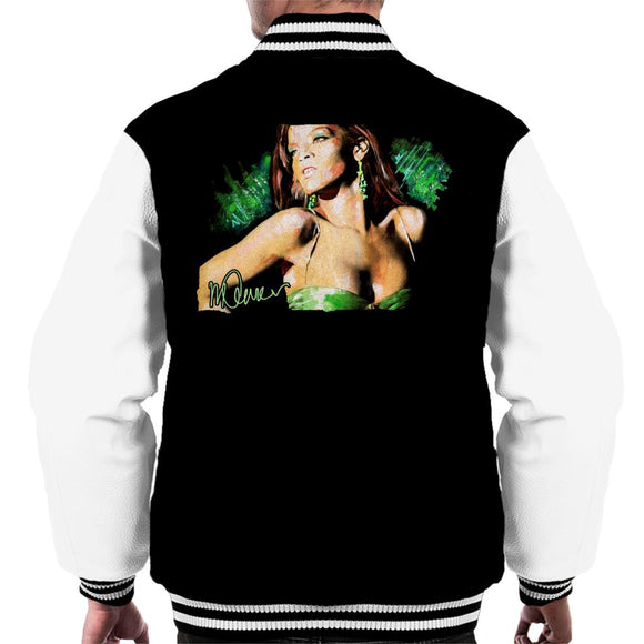 Sidney Maurer Original Portrait Of Rihanna Earrings Men's Varsity Jacket