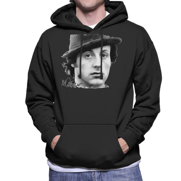 Sidney Maurer Original Portrait Of Sylvester Stallone Hat Men's Hooded Sweatshirt
