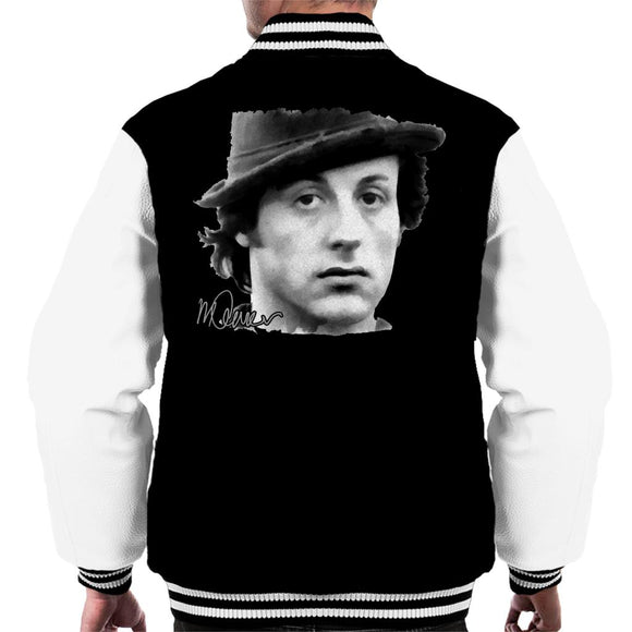 Sidney Maurer Original Portrait Of Sylvester Stallone Hat Men's Varsity Jacket