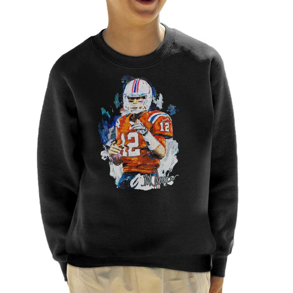 Sidney Maurer Original Portrait Of Tom Brady Patriots Kid's Sweatshirt