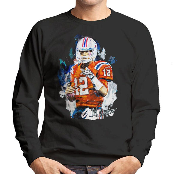 Sidney Maurer Original Portrait Of Tom Brady Patriots Men's Sweatshirt