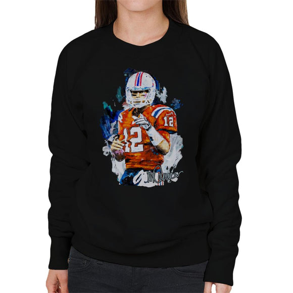 Sidney Maurer Original Portrait Of Tom Brady Patriots Women's Sweatshirt