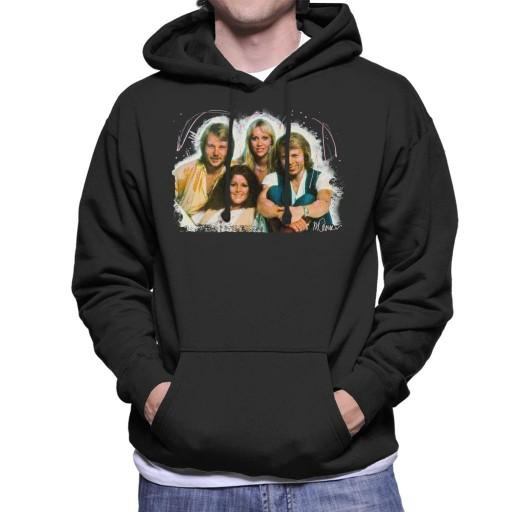 Sidney Maurer Original Portrait Of Abba Angel Eyes Cover Mens Hooded Sweatshirt - Mens Hooded Sweatshirt