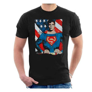 Sidney Maurer Original Portrait Of Superman Christopher Reeve Men's T-Shirt