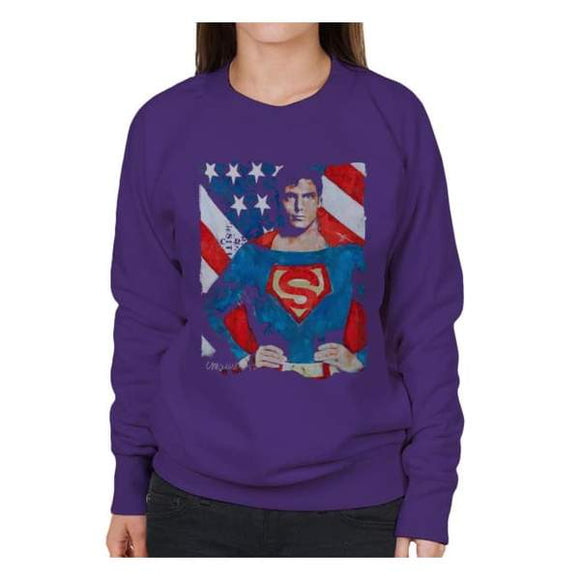 Sidney Maurer Original Portrait Of Superman Christopher Reeve Women's Sweatshirt