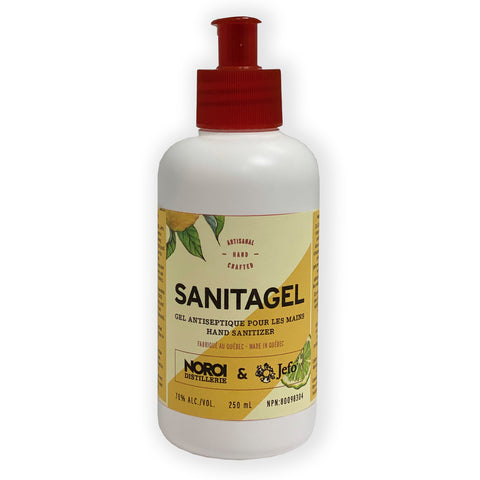 Sanitagel - Gel désinfectant pour les mains 250 ml (pompe incluse)