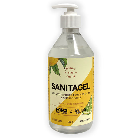 Sanitagel - Gel désinfectant pour les mains 500 ml (pompe incluse)