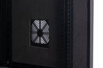 Orion Acoustic Wall Mount Data Cabinet in Black - Integrated Fan