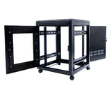 Orion Free Standing Data Cabinets Side Panels Removed Black