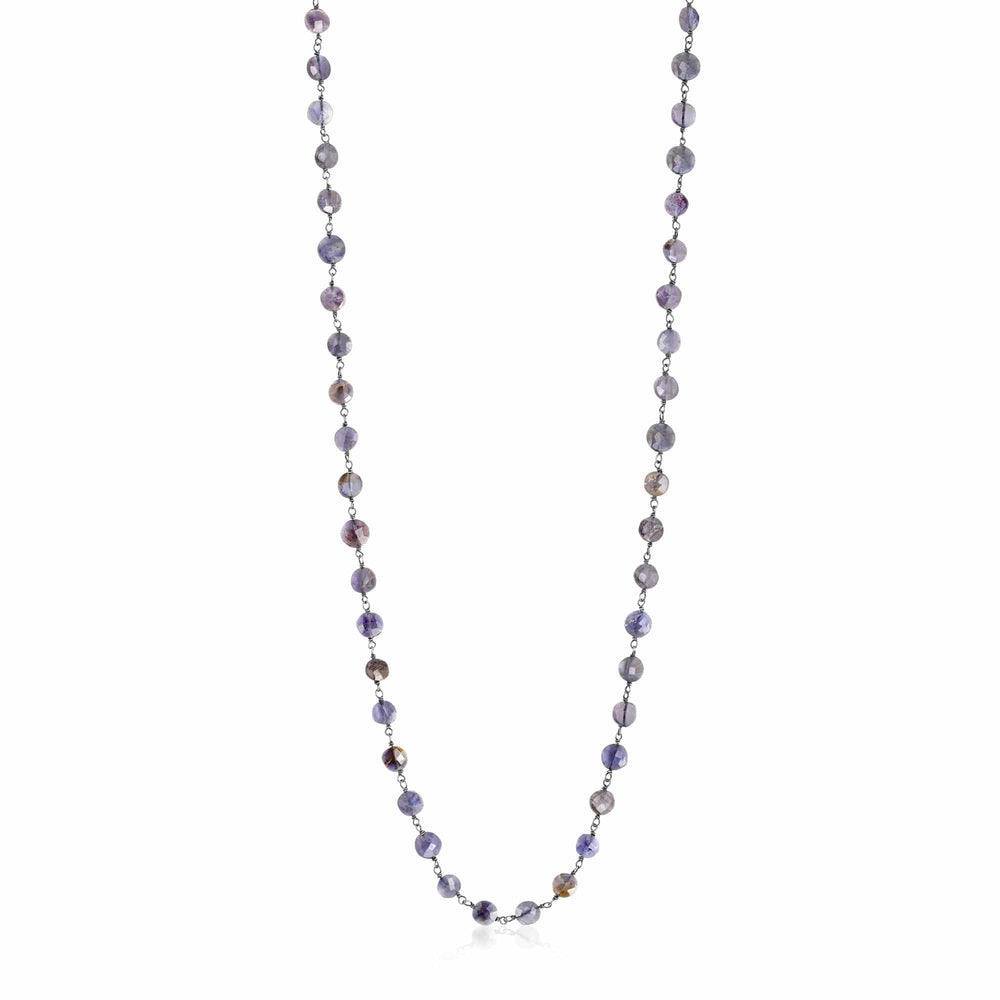 ela rae diana coin necklace iolite sterling silver