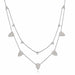 ela rae double pear necklace diamond sterling silver