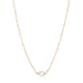 ela rae libi choker necklace rainbow moonstone 14k yellow gold plate