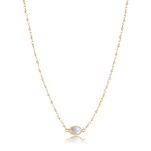 Load image into Gallery viewer, ela rae libi choker necklace pearl rainbow moonstone 14k yellow gold plate