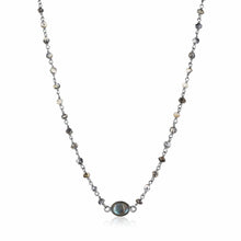 Load image into Gallery viewer, ela rae libi choker necklace dendrite opal labradorite sterling silver