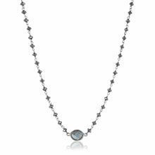 Load image into Gallery viewer, ela rae libi choker necklace hematite labradorite sterling silver