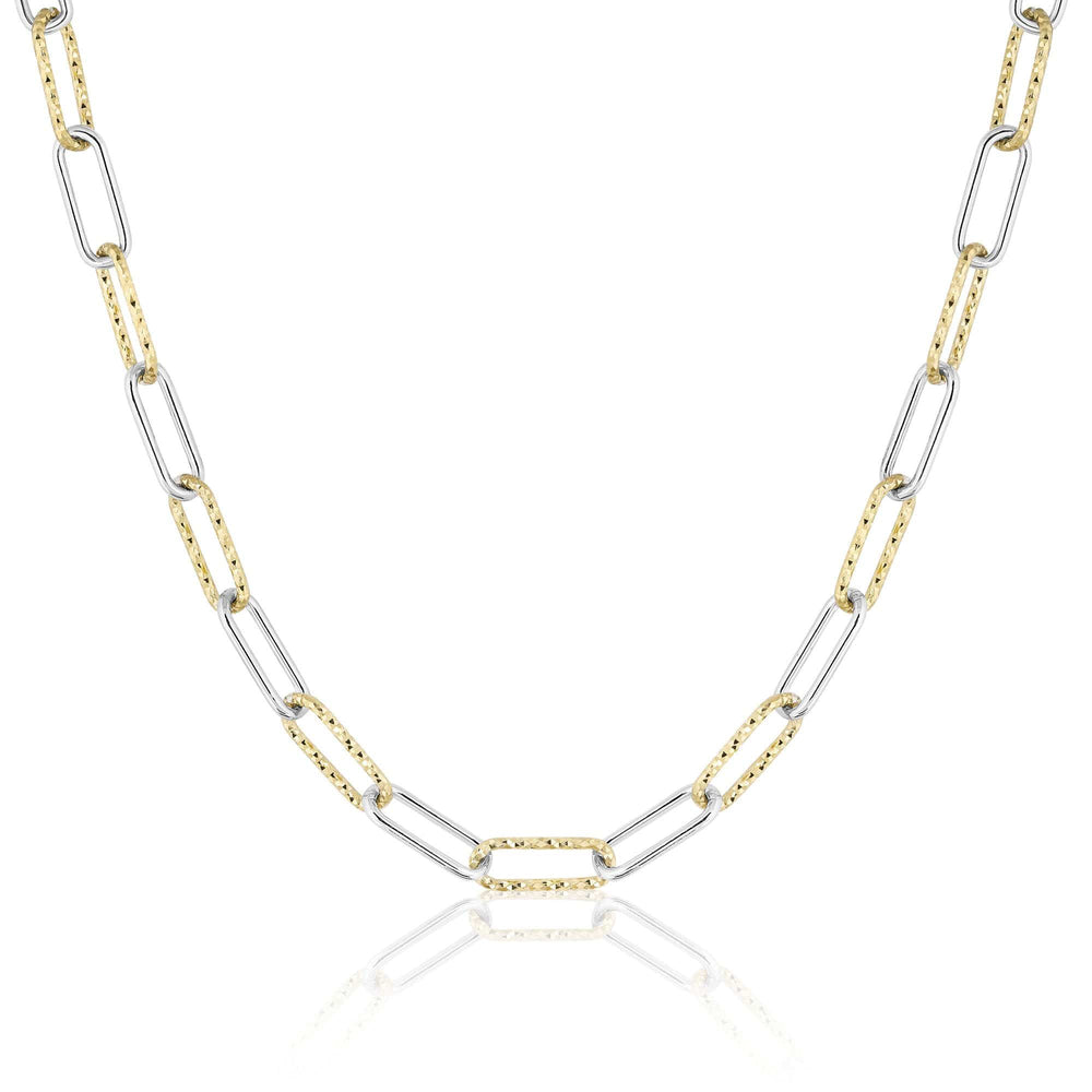 ela rae helena sparkle mix necklace 14k yellow gold plate sterling silver