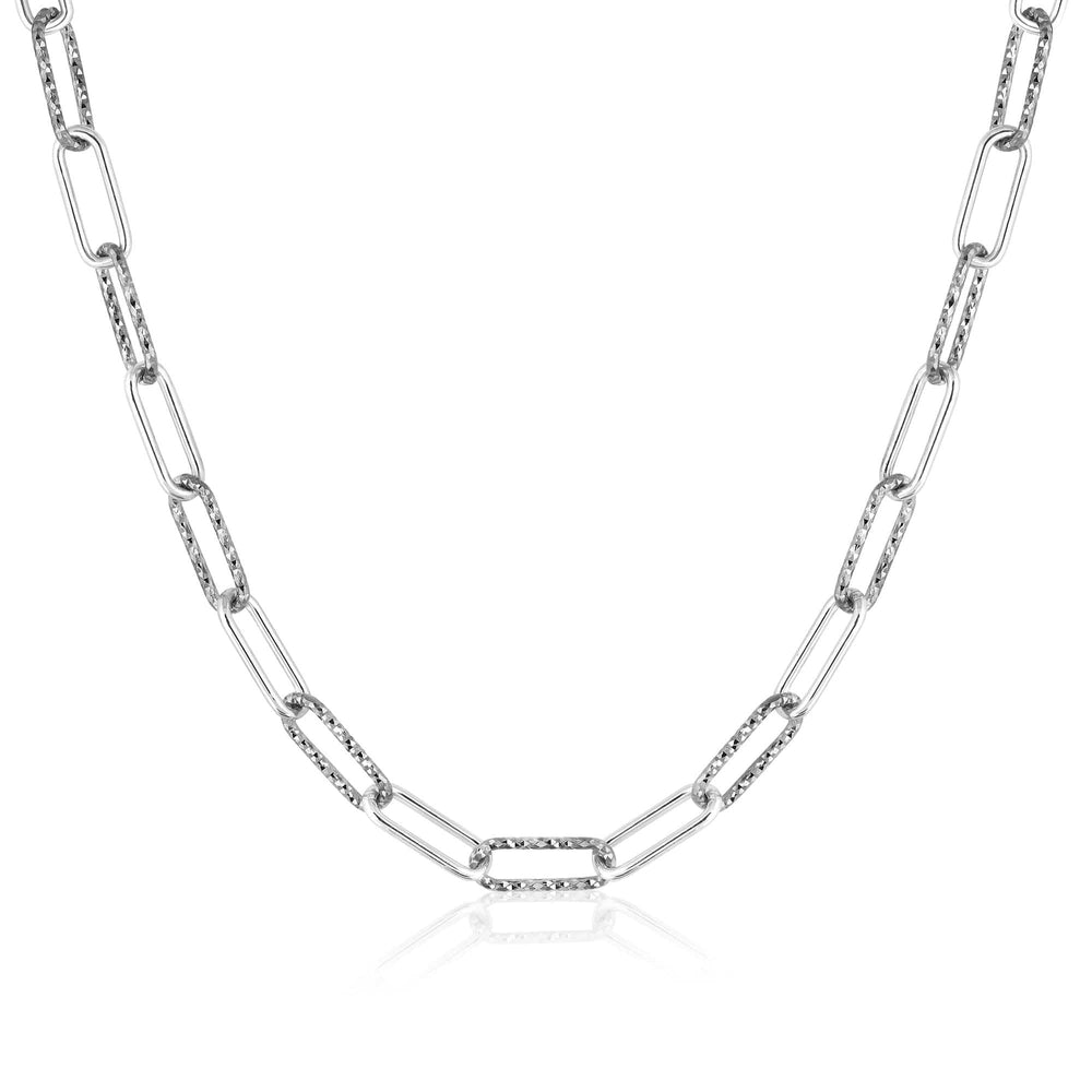 ela rae helena sparkle mix necklace sterling silver