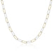 ela rae helena sparkle mix necklace 14k yellow gold plate sterling silver small