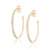 ela rae bezel hoops white zircon 14k yellow gold plate