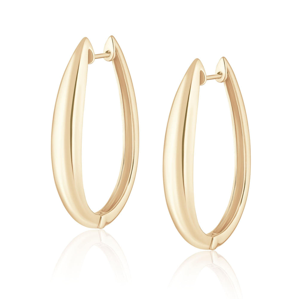 ela rae hallow hoops 14k yellow gold plate