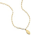 ela rae lara marquise charm necklace rectangle chain 14k yellow gold plate