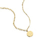 ela rae lara mismatch disc charm necklace 14k yellow gold plate matte